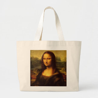 Leonardo Da Vinci Mona Lisa Fine Art Painting Large Tote Bag