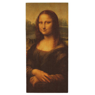 Leonardo Da Vinci Mona Lisa Fine Art Painting Wood USB Flash Drive