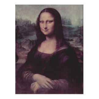 Leonardo da Vinci Mona Lisa (La Giaconda) Mona Lis Postcard