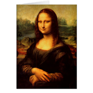 LEONARDO DA VINCI - Mona Lisa, La Gioconda 1503 Card