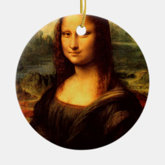 LEONARDO DA VINCI - Mona Lisa, La Gioconda 1503 Ceramic Ornament