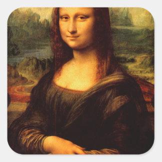 LEONARDO DA VINCI - Mona Lisa, La Gioconda 1503 Square Sticker