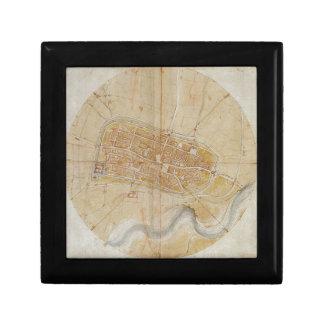 Leonardo da Vinci - Plan of Imola Painting Gift Box