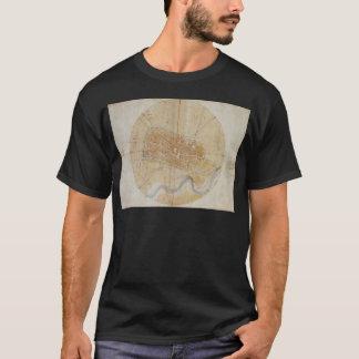 Leonardo da Vinci - Plan of Imola Painting T-Shirt