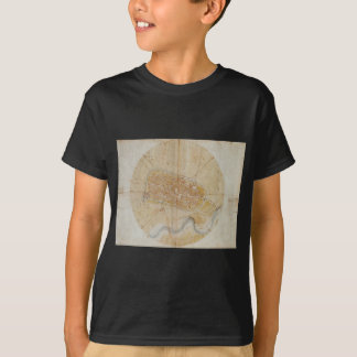 Leonardo da Vinci - Plan of Imola Painting T-Shirt