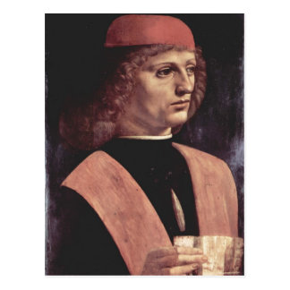 Leonardo da Vinci Portr?t eines Musikers Italiano: Postcard
