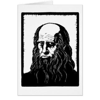 Leonardo da Vinci - portrait Card