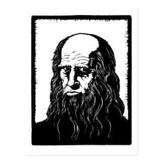 Leonardo da Vinci - portrait Postcard