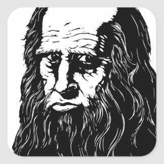 Leonardo da Vinci - portrait Square Sticker