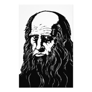 Leonardo da Vinci - portrait Stationery Design