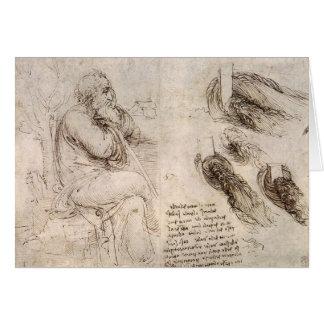 Leonardo da Vinci, possible self-portrait. Card