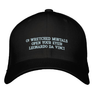 LEONARDO DA VINCI  QUOTE - BASEBALL HAT