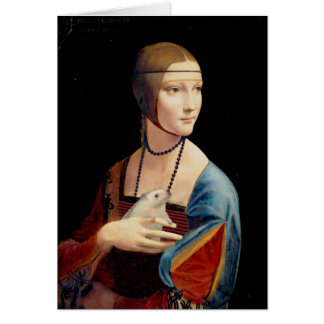 Leonardo Da Vinci's Lady With a Hedgehog Card