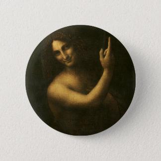 Leonardo da Vinci -Saint John the Baptist Painting 2 Inch Round Button