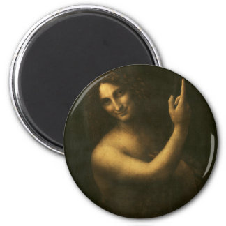 Leonardo da Vinci -Saint John the Baptist Painting Magnet