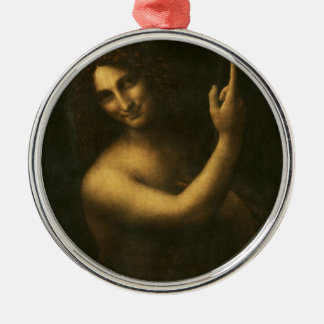 Leonardo da Vinci -Saint John the Baptist Painting Metal Ornament