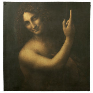 Leonardo da Vinci -Saint John the Baptist Painting Napkin