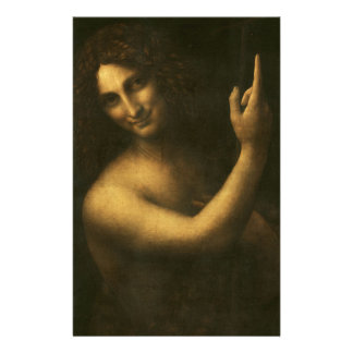 Leonardo da Vinci -Saint John the Baptist Painting Stationery