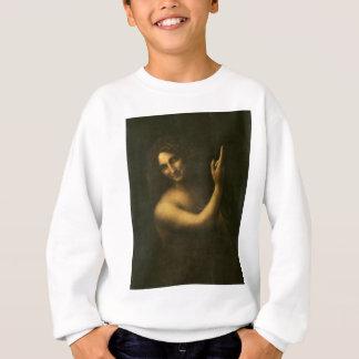 Leonardo da Vinci -Saint John the Baptist Painting Sweatshirt