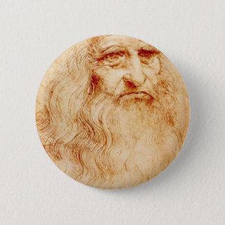 Leonardo Da Vinci Self-Portrait circa 1510-1515 2 Inch Round Button