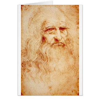 Leonardo Da Vinci Self-Portrait circa 1510-1515 Card