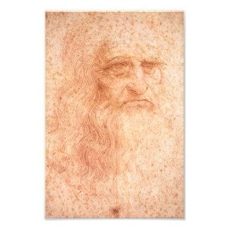 Leonardo da Vinci Self Portrait Red Chalk Photograph