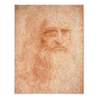 Leonardo da Vinci Self Portrait Red Chalk Print