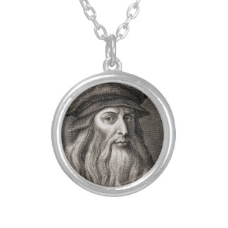 Leonardo da Vinci Silver Plated Necklace