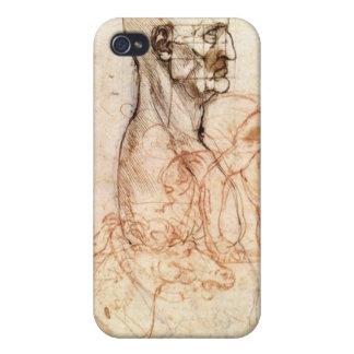 Leonardo da Vinci Sketch - Man and Horse iPhone 4 Cover