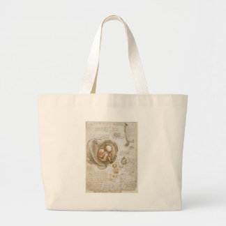 Leonardo da Vinci Studies of the Fetus in the Womb Large Tote Bag