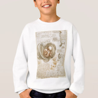 Leonardo da Vinci Studies of the Fetus in the Womb Sweatshirt