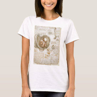 Leonardo da Vinci Studies of the Fetus in the Womb T-Shirt