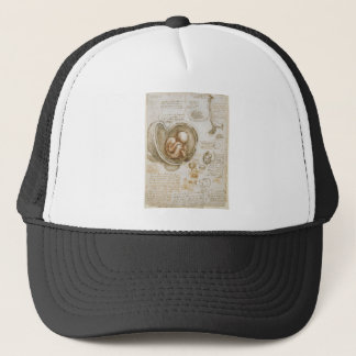 Leonardo da Vinci Studies of the Fetus in the Womb Trucker Hat