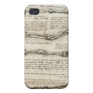 Leonardo Da Vinci - Study of Arm Sketch iPhone 4/4S Case