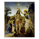 Leonardo da Vinci The Baptism of Christ Poster