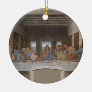 Leonardo da Vinci - The Last Supper painting Ceramic Ornament