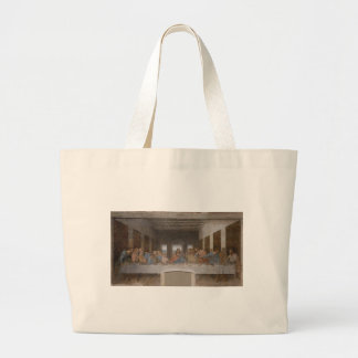Leonardo da Vinci - The Last Supper painting Large Tote Bag