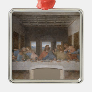 Leonardo da Vinci - The Last Supper painting Metal Ornament