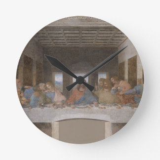 Leonardo da Vinci - The Last Supper painting Round Clock