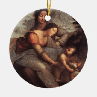 Leonardo da Vinci - Virgin and Child with St Anne Ceramic Ornament