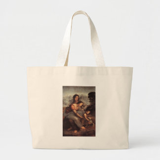 Leonardo da Vinci - Virgin and Child with St Anne Large Tote Bag