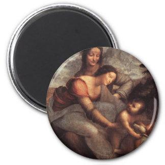 Leonardo da Vinci - Virgin and Child with St Anne Magnet
