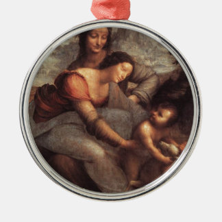 Leonardo da Vinci - Virgin and Child with St Anne Metal Ornament