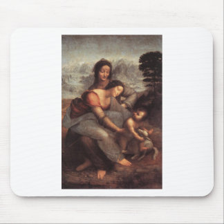 Leonardo da Vinci - Virgin and Child with St Anne Mouse Pad