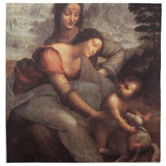 Leonardo da Vinci - Virgin and Child with St Anne Napkin