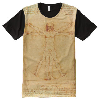 Leonardo da Vinci Vitruvian Man drawing All-Over-Print T-Shirt