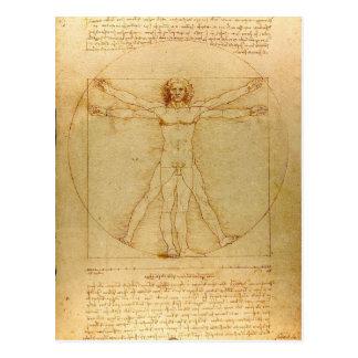 Leonardo Da Vinci Vitruvian Man Postcard