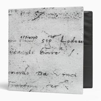 Leonardo da Vinci's handwriting Binder