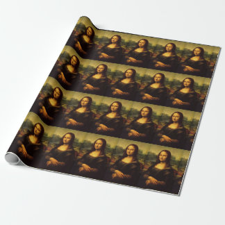 Leonardo da Vinci's Mona Lisa Wrapping Paper