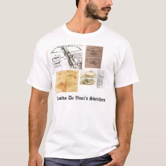 Leonardo Da Vinci's Sketches T-Shirt